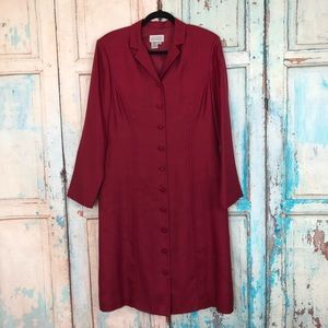 Adrianna Papell Vintage Button Front Dress